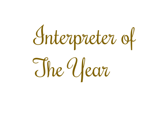 An Interpreter who…. -