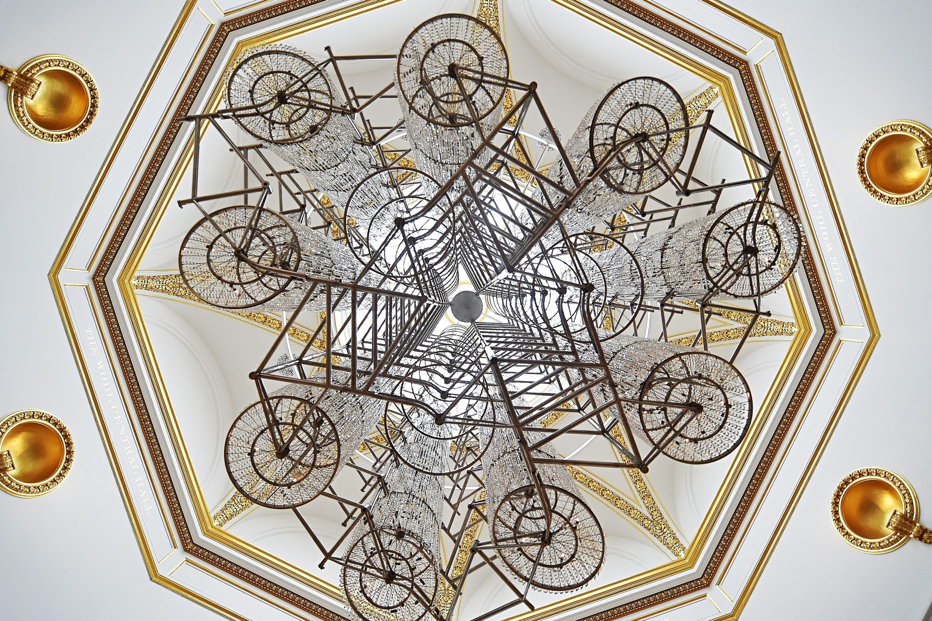 Bicycle Chandelier, 2015 - Bicycles and crystals, 500 x 430cm