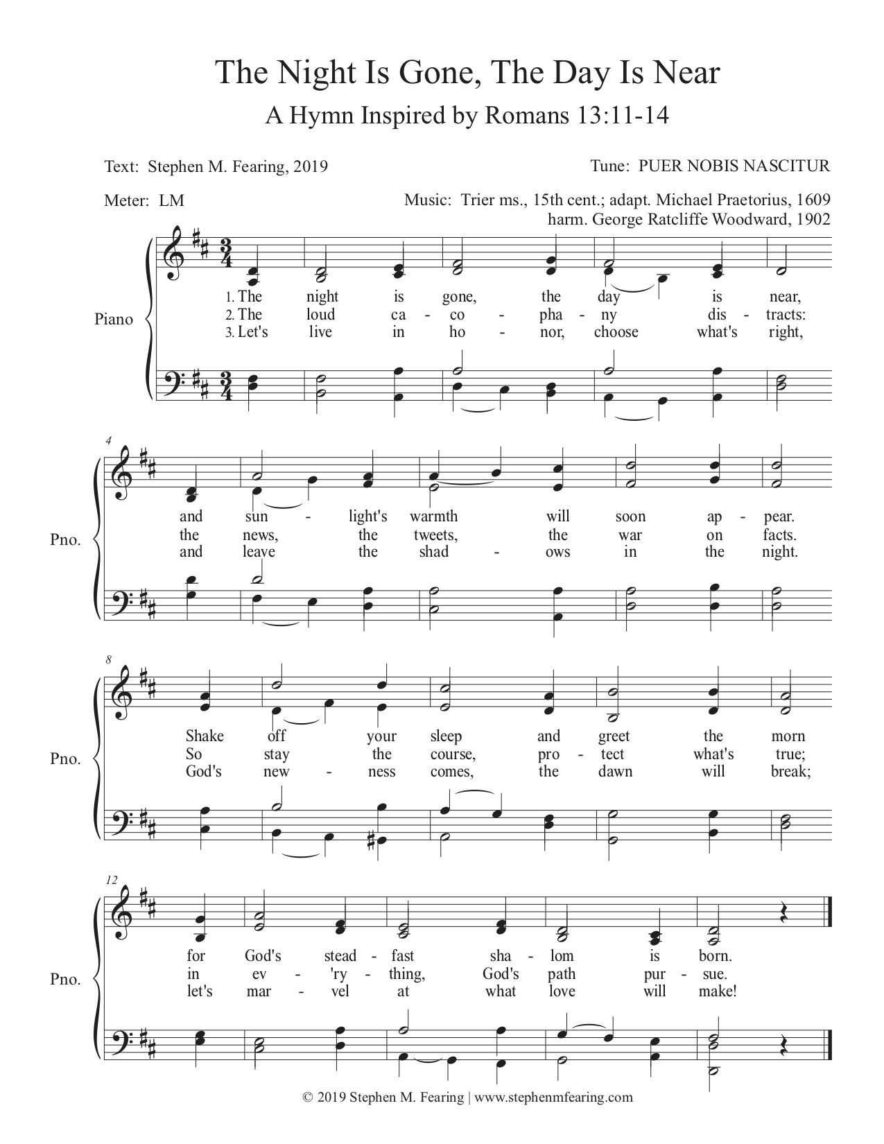The Night Is Gone, The Day Is Near (PUER NOBIS NASCITUR) - Score.jpg