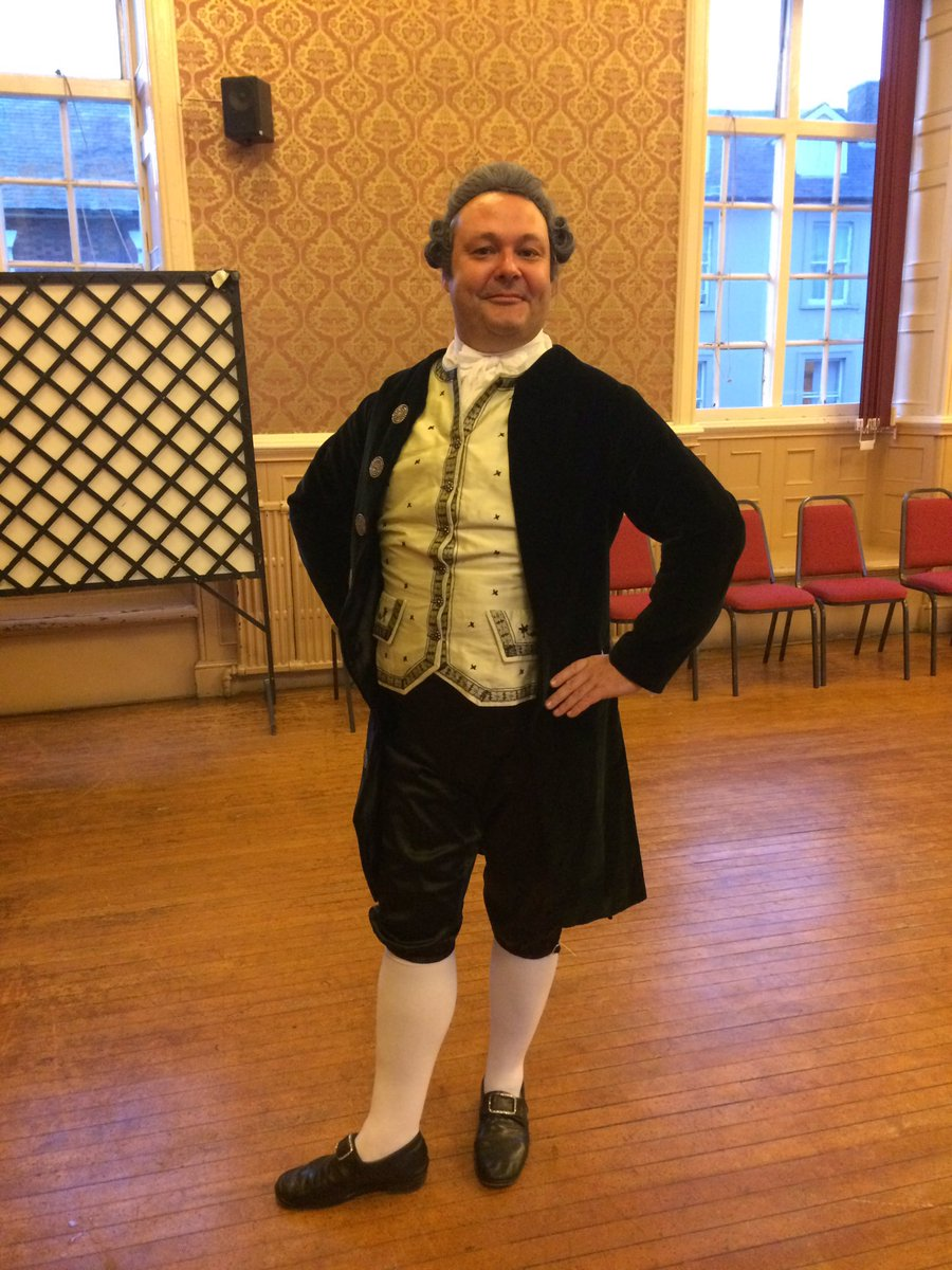 Dancing master  Stuart Marsden  at Brackley Town Hall with us in September 2016 (Photo: Anneke Scott)