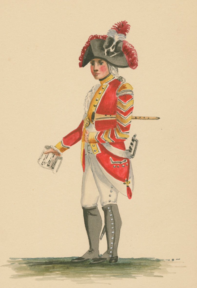 A musician (clarinettist?) from the Bucks militia, c.1793 (from  gentlemaninkhaki.tumblr.com )