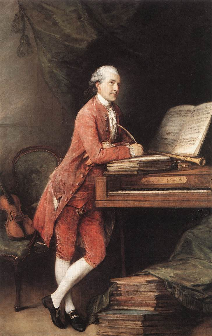 Johann Christian Fischer c.1780, by Thomas Gainsborough