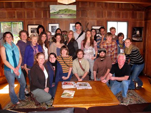 Kim Weston with Sandi Frank and Cabrillo College Photography Class