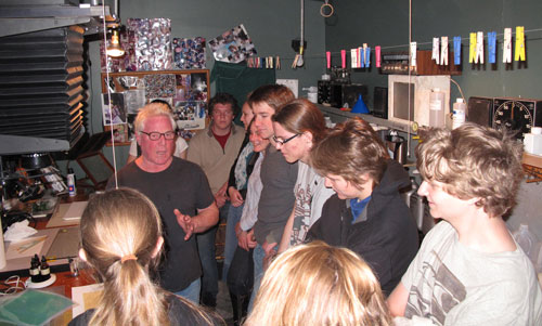 Kim Weston - In the darkroom with high school students