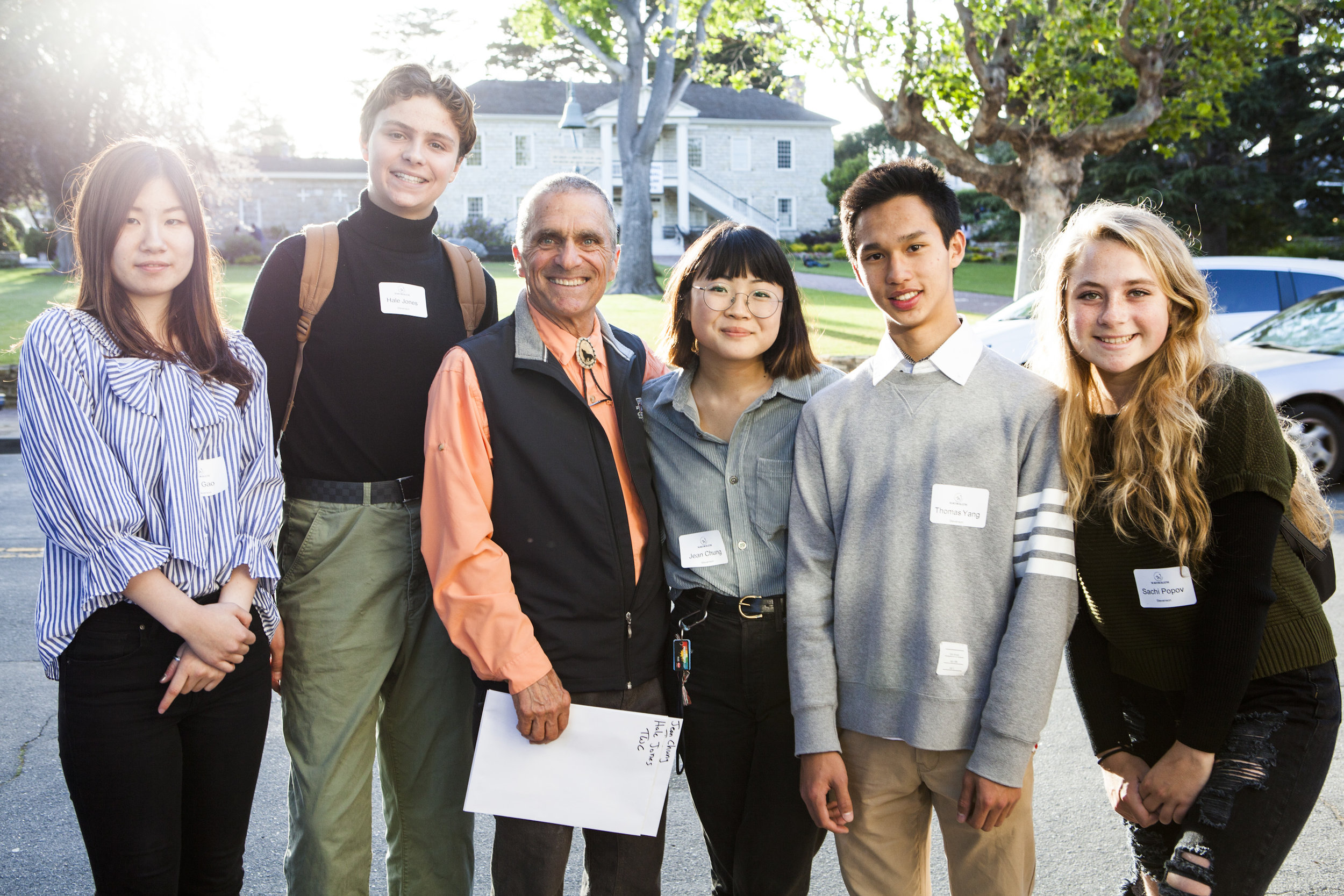 Stevenson School photography students with instructor, Cole Thompson, at the 2017 Weston Scholarship Exhibition at the Monterey Museum of Art.  Photo: © Michelle Magdalena Maddox