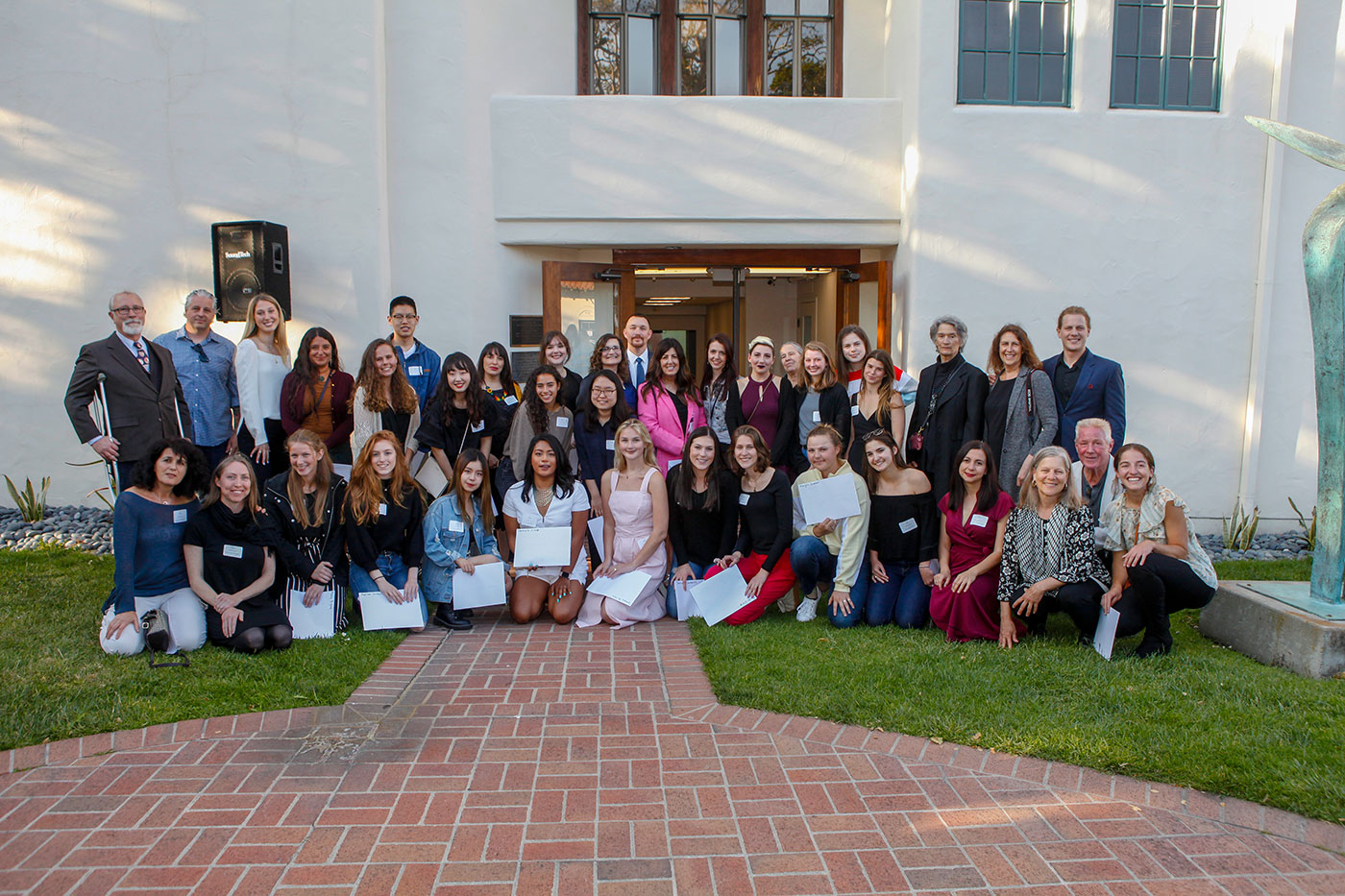 2019 Weston Scholarship recipients and instructors at the Monterey Museum of Art  Photo: © Winston Boyer