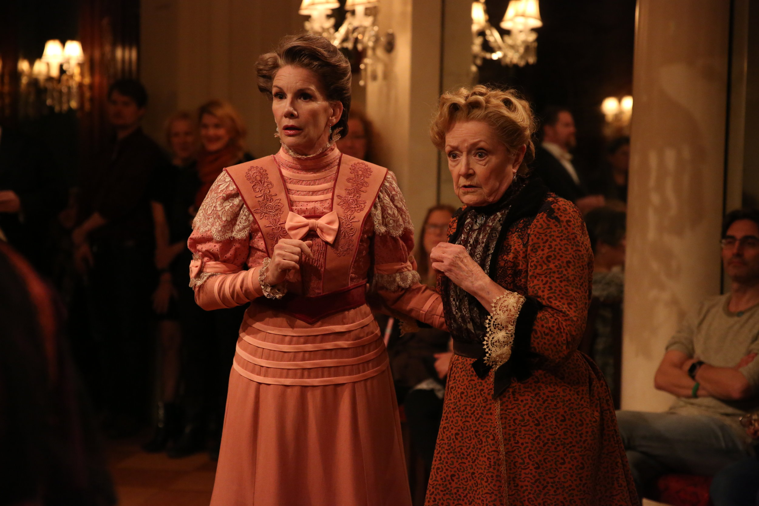 Melissa Gilbert and Patricia Kilgarriff in Irish Rep's THE DEAD, 1904.Photo by Carol Rosegg.JPG