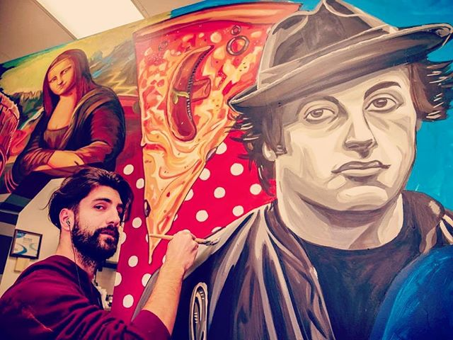 Whatup Italy.  Last mural of the year coming to a close. Been a time of reflection and determination to close out the year strong.