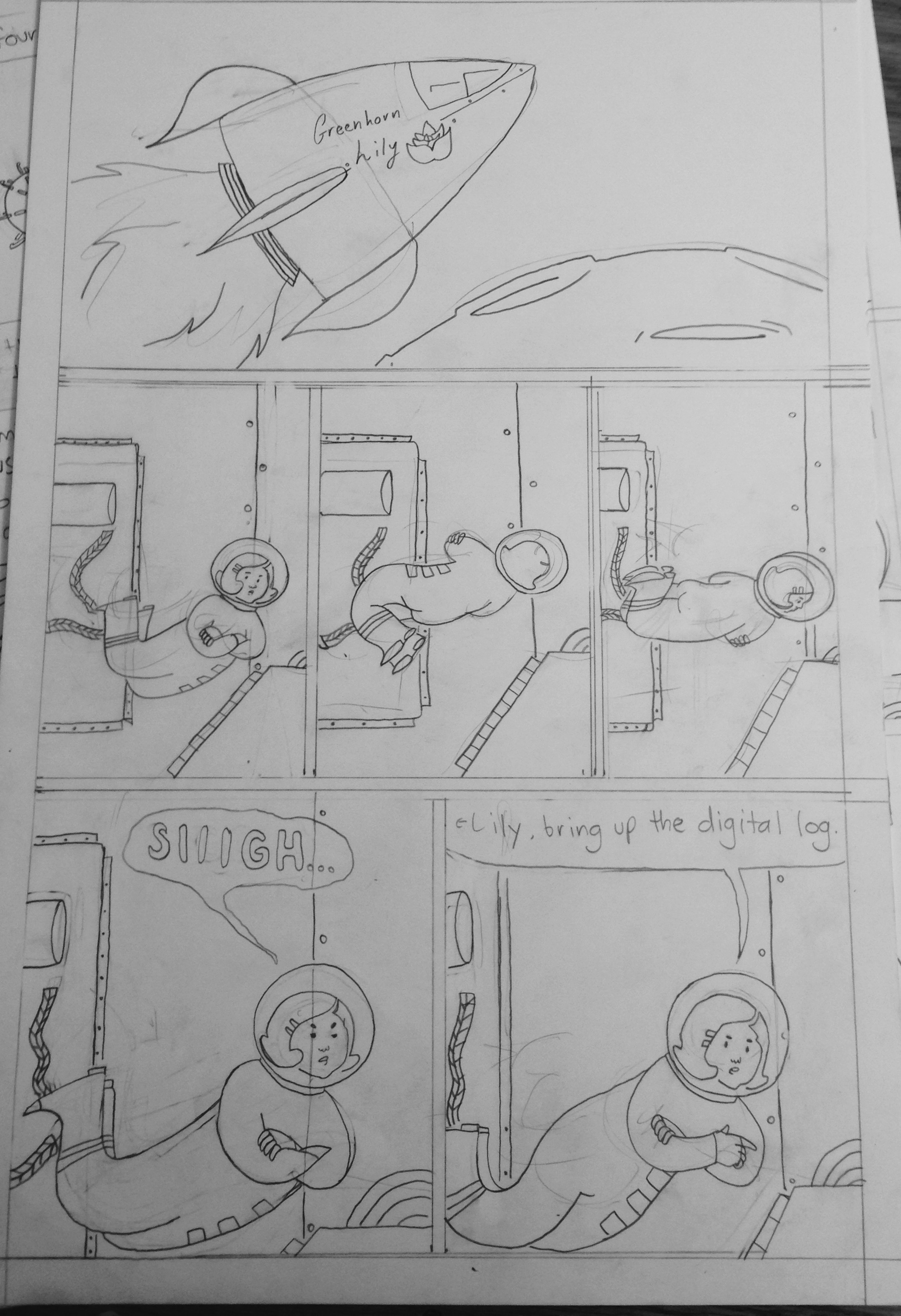Pencils of page 1.