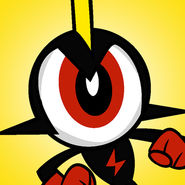 This is my favorite character, Commander Peepers. He's an eyeball.