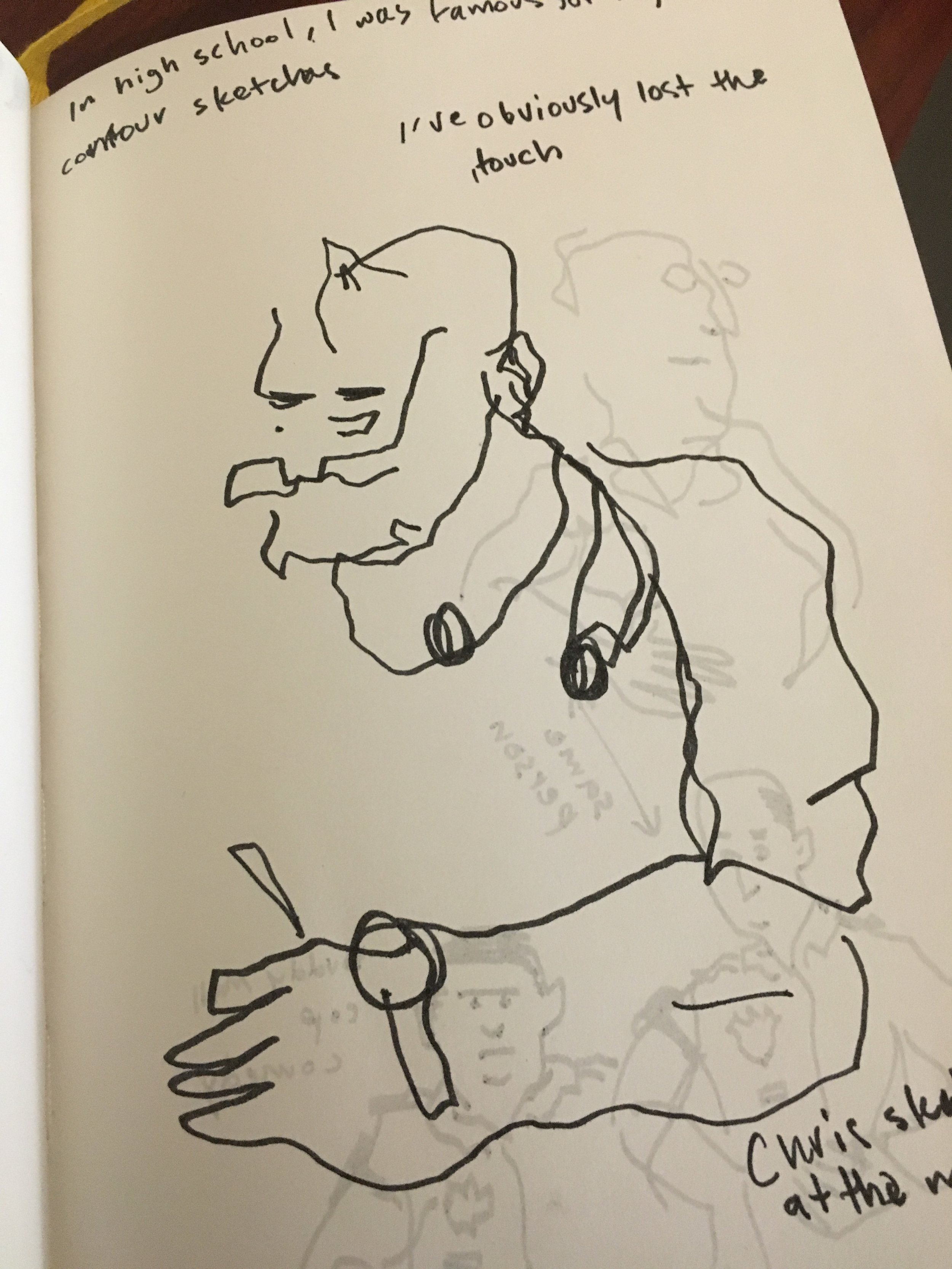 I used to do  blind contour drawings  all the time in high school, I must have lost my knack.