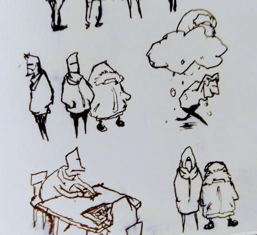 Mini Parka Gnomes accompanied by winter Chris.