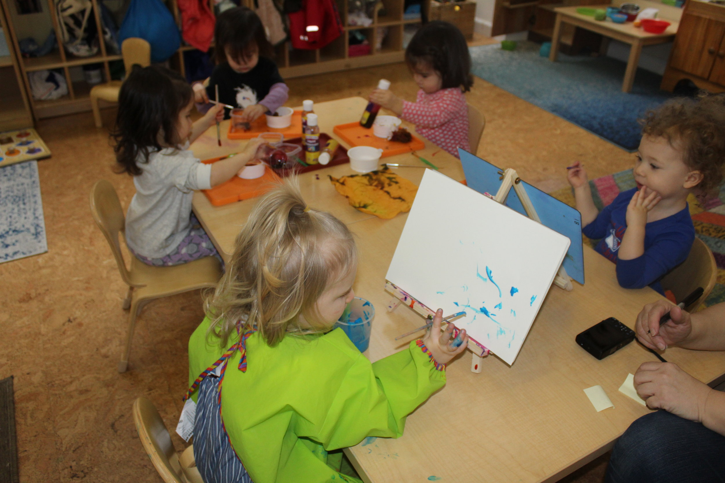 """As Remy was painting, the teacher asked her, What are you drawing, Remy? Remy gazes at her art piece with a keen eye. She appears to be observing carefully everything she has drawn.  Madeline indicated that she was drawing a """"Pappaion"""" is a French word for a type of butterfly.  ."""