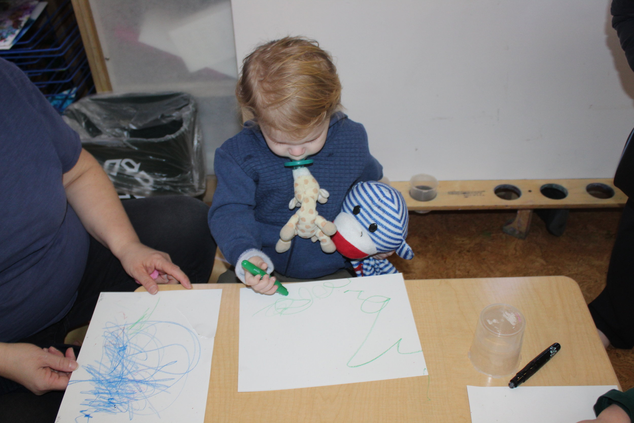 William is gradually adusting to the classroom environment.