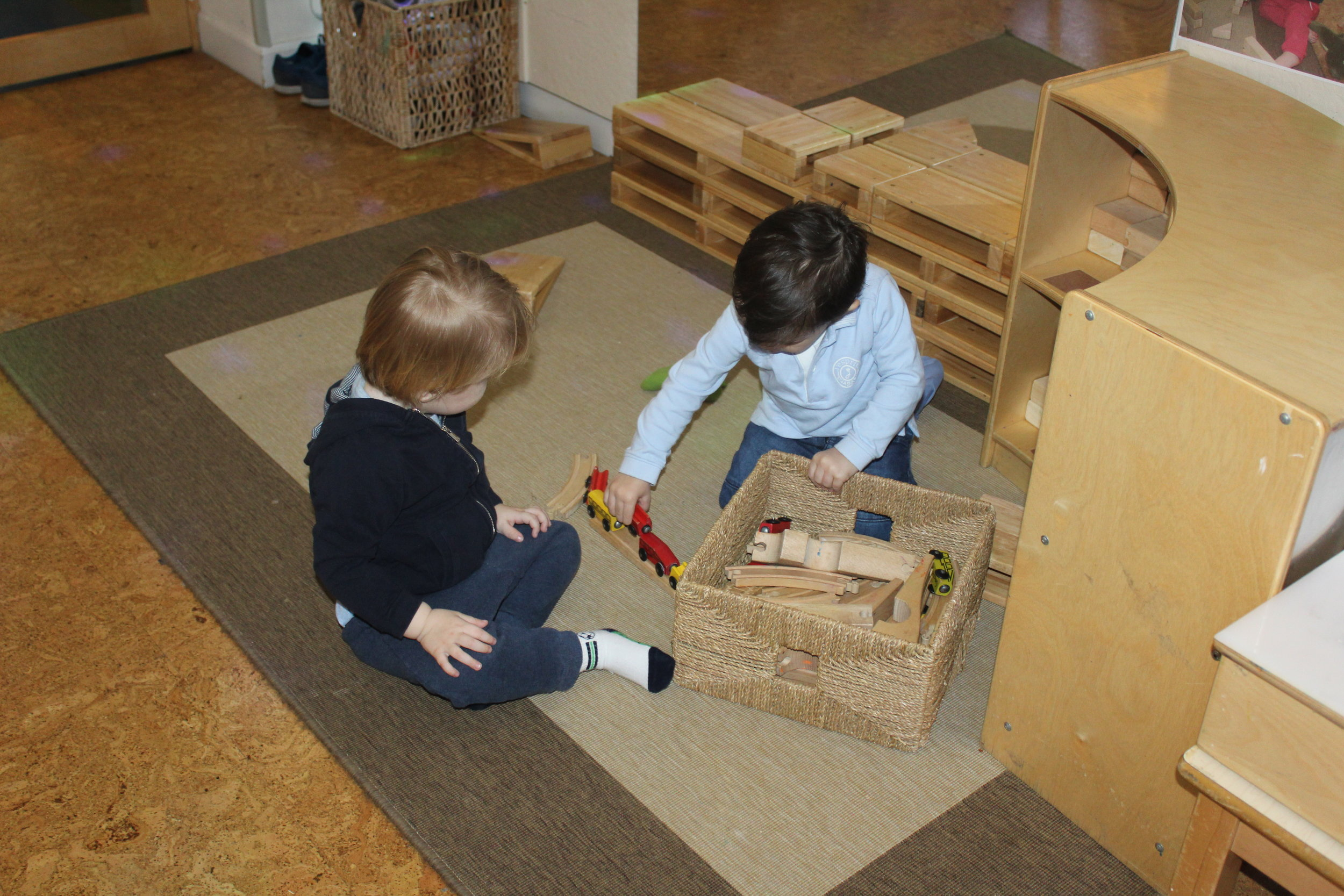 Children are learning to take turns, share toys and engage in play.