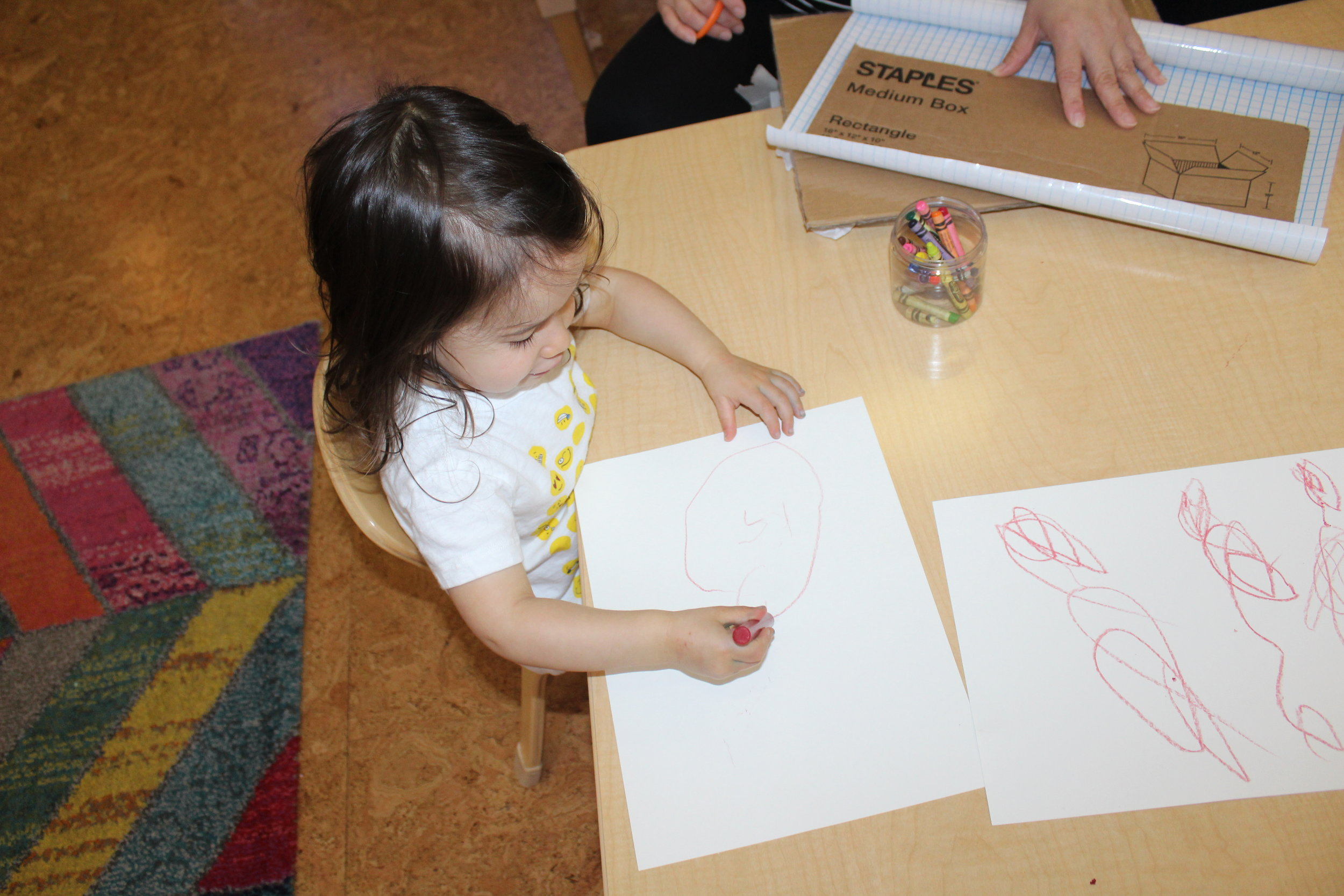 Harlow drew Sandra and Janet.