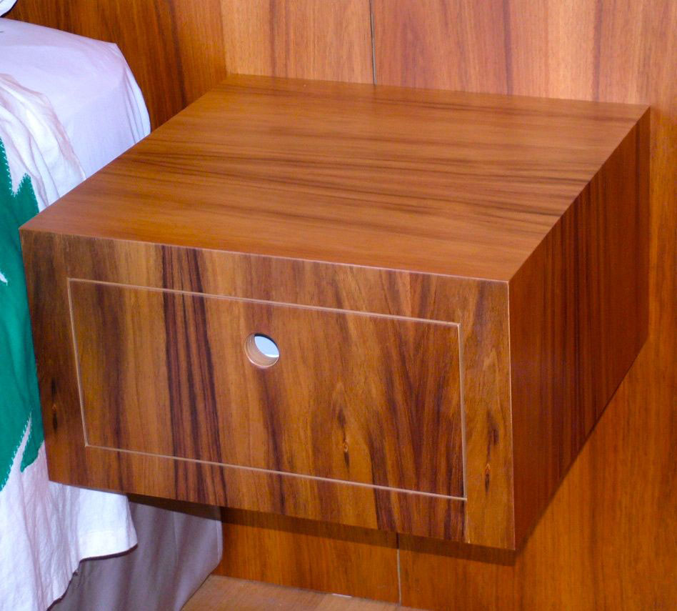 Australian blackwood bedside drawer