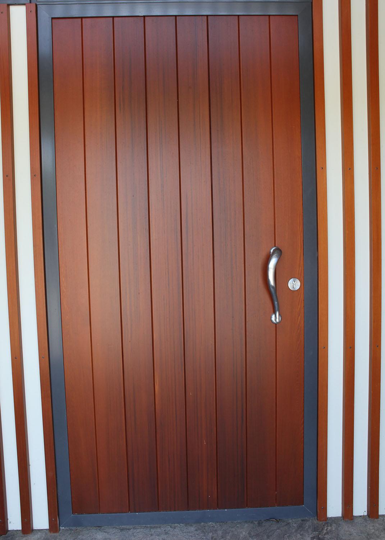 Cedar tongue and groove entrance door