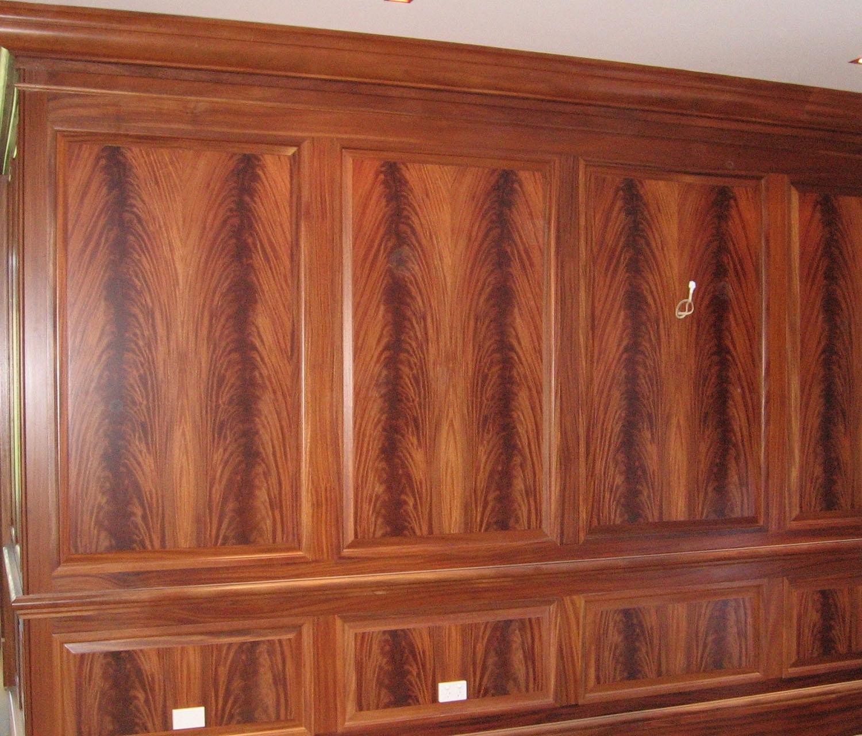 Flame Mahogany wall panelling