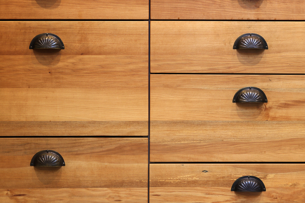 Different size drawers made from milled native timber