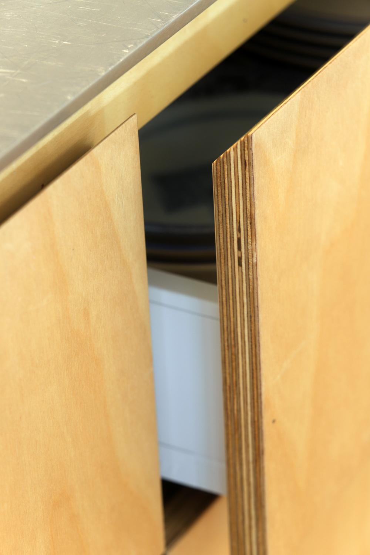 Birch ply angled drawer