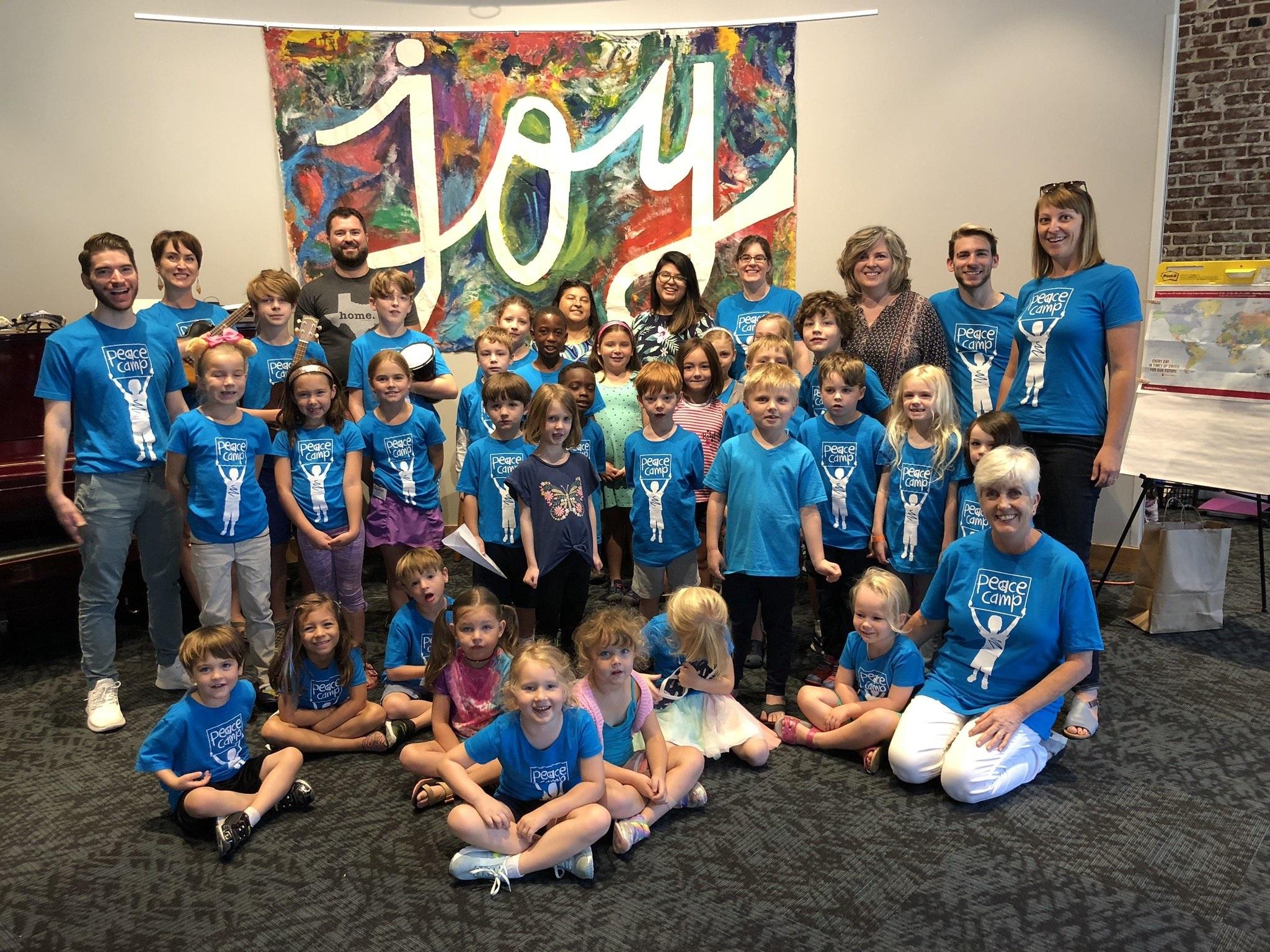 Evergreen's inaugural Peace Camp cohort take July 25, 2019.