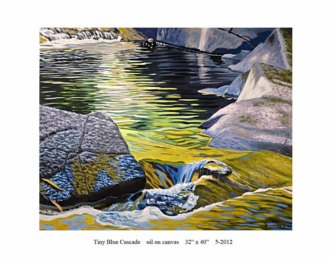 7) Tiny Blue Cascade; 32 x 40; 5-2012.jpg