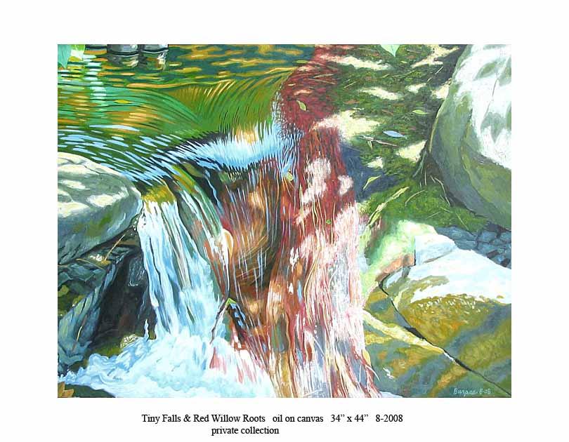 2) Tiny Falls & Willow Roots 34 x 44 8-2008 .jpg