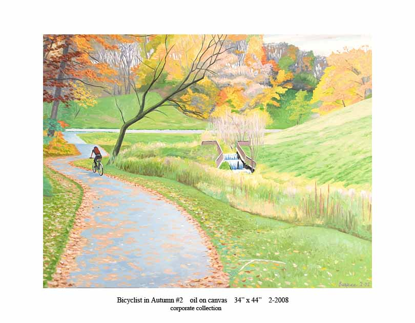 10) Bicyclist in Autumn #2 34x44 2-2008.jpg