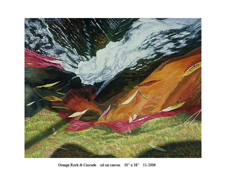 1) 11-2006 Orange Rock and Cascade 30 x 38.jpg