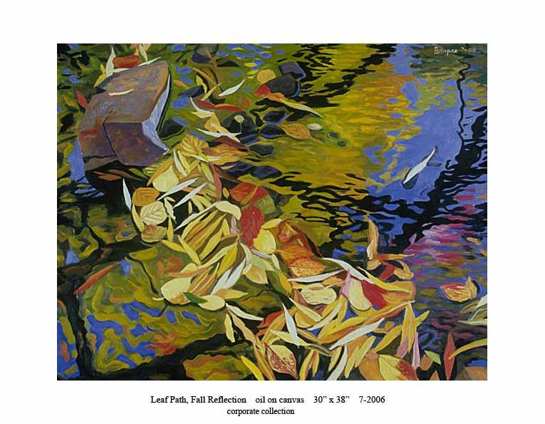 8) 7-2006 Leaf Path, Fall Reflection 30 x 38.jpg