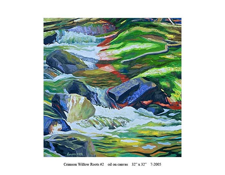 6) 7-2005 Crimson Willow Roots #2 32 x 32.jpg
