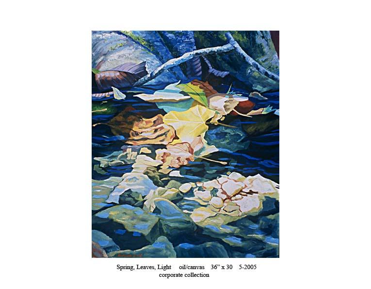 8) 5-2005 Spring, Leaves, Light 36 x 30.jpg