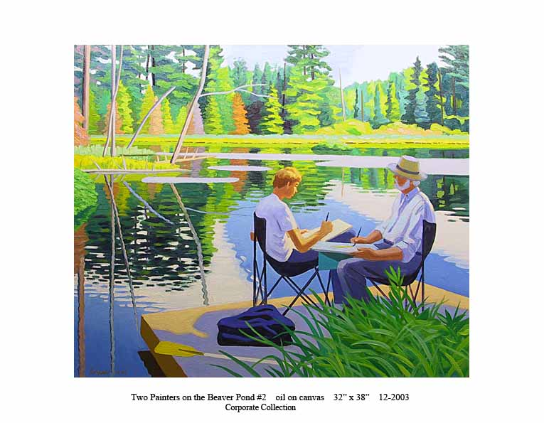 1) 12-2003 Two Painters on the Beaver Pond #2 32 x 38 copy.jpg