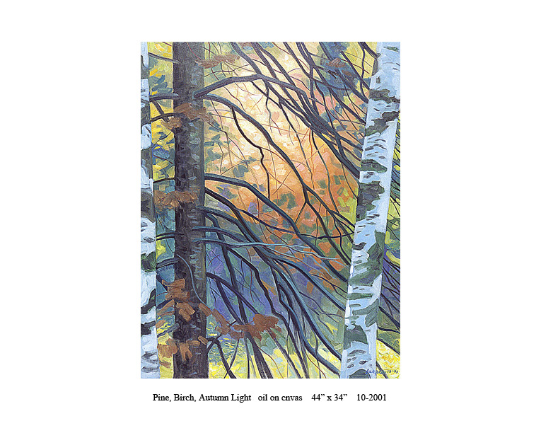 2)-10-2001-Pine,-Birch,-Autumn-Light-44-x-34.jpg