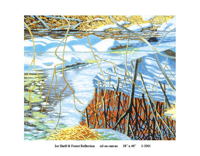 9)-3-2001-Ice-Shelf-&-Forest-Reflection-38-x-46.jpg