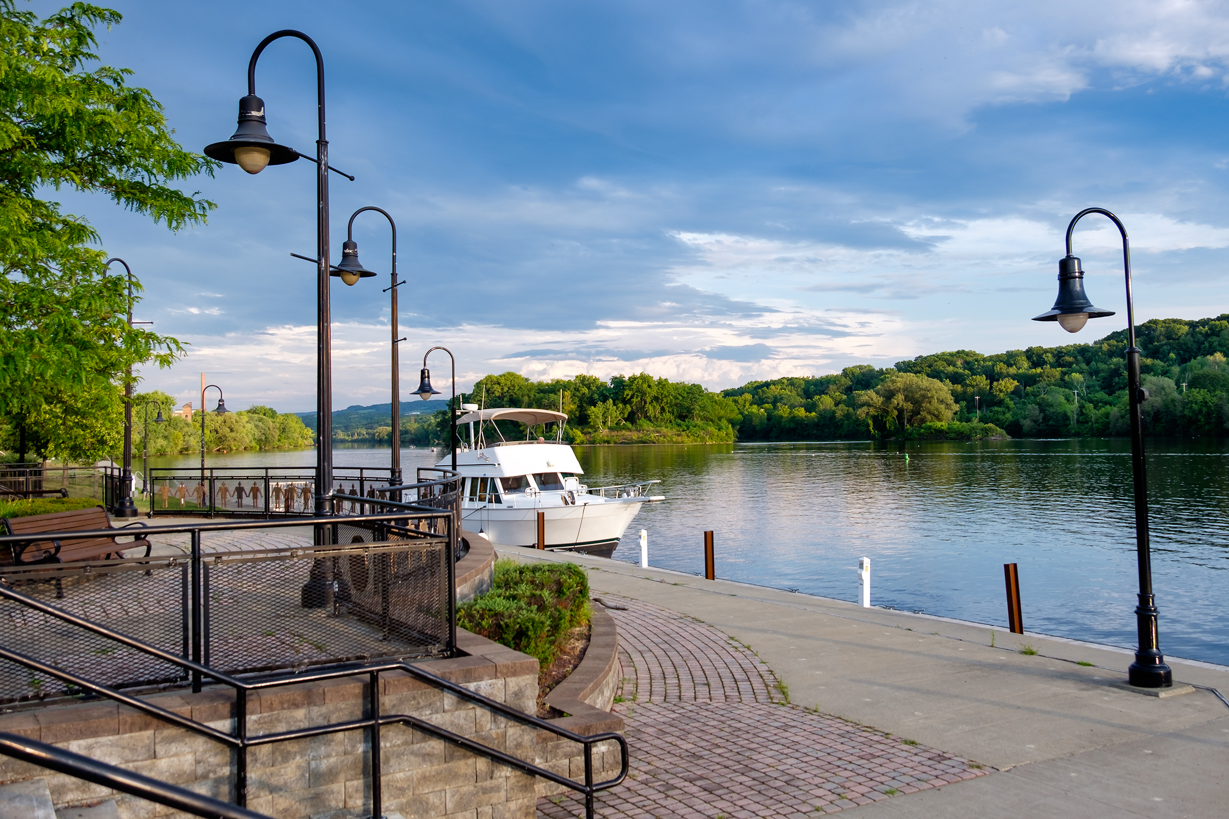 Riverlink Park is located on the Mohawk River in the City of Amsterdam and hosts a variety of riverfront summer concerts.