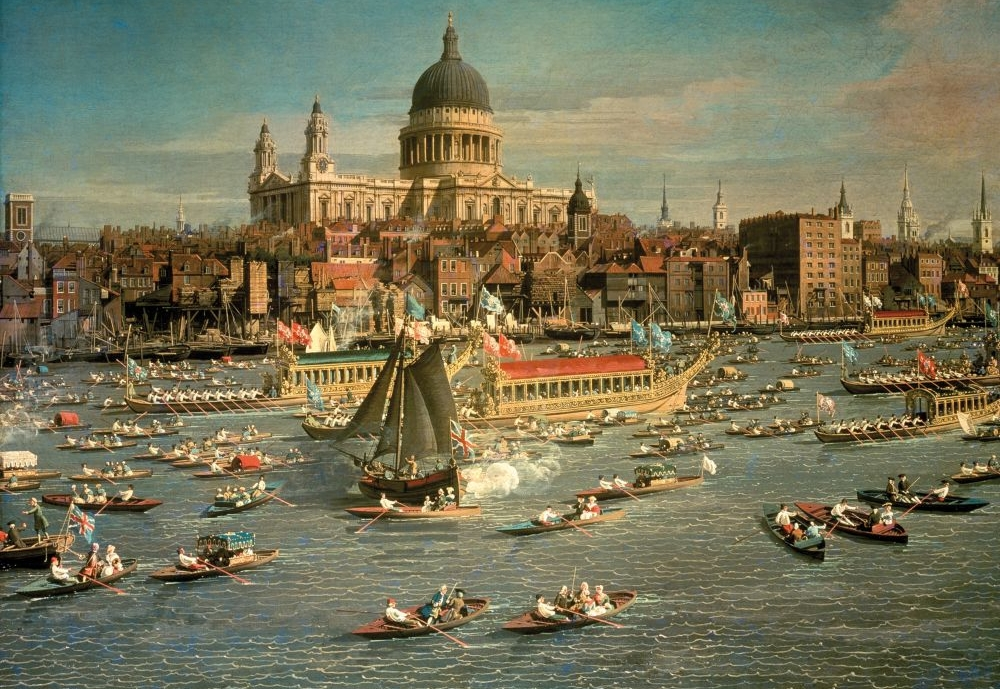 Pictured: Puzzle en Bois - Giovanni Antonio Canal (Canaletto) : London, The Thames with View of the City of St.