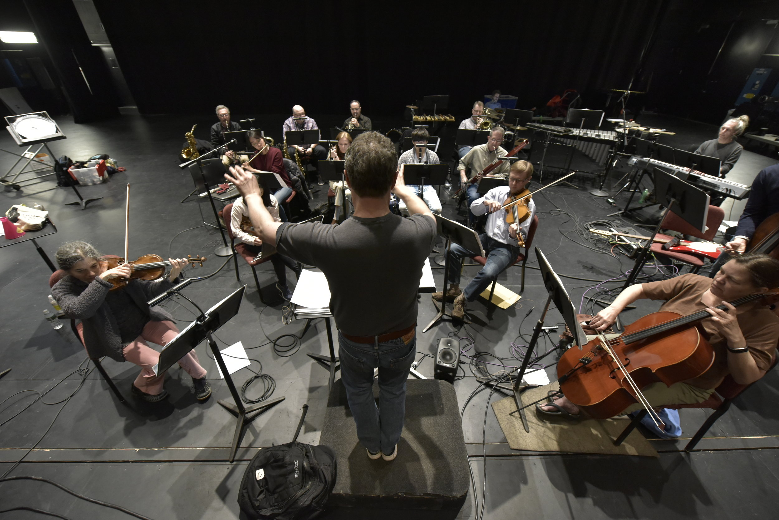 The tour began on Monday evening at EMPAC.  Members of the Albany Symphony's Dogs of Desire rehearsed the Liederabend that they will bring to Blind Whino, an alternative arts space in SW, DC.