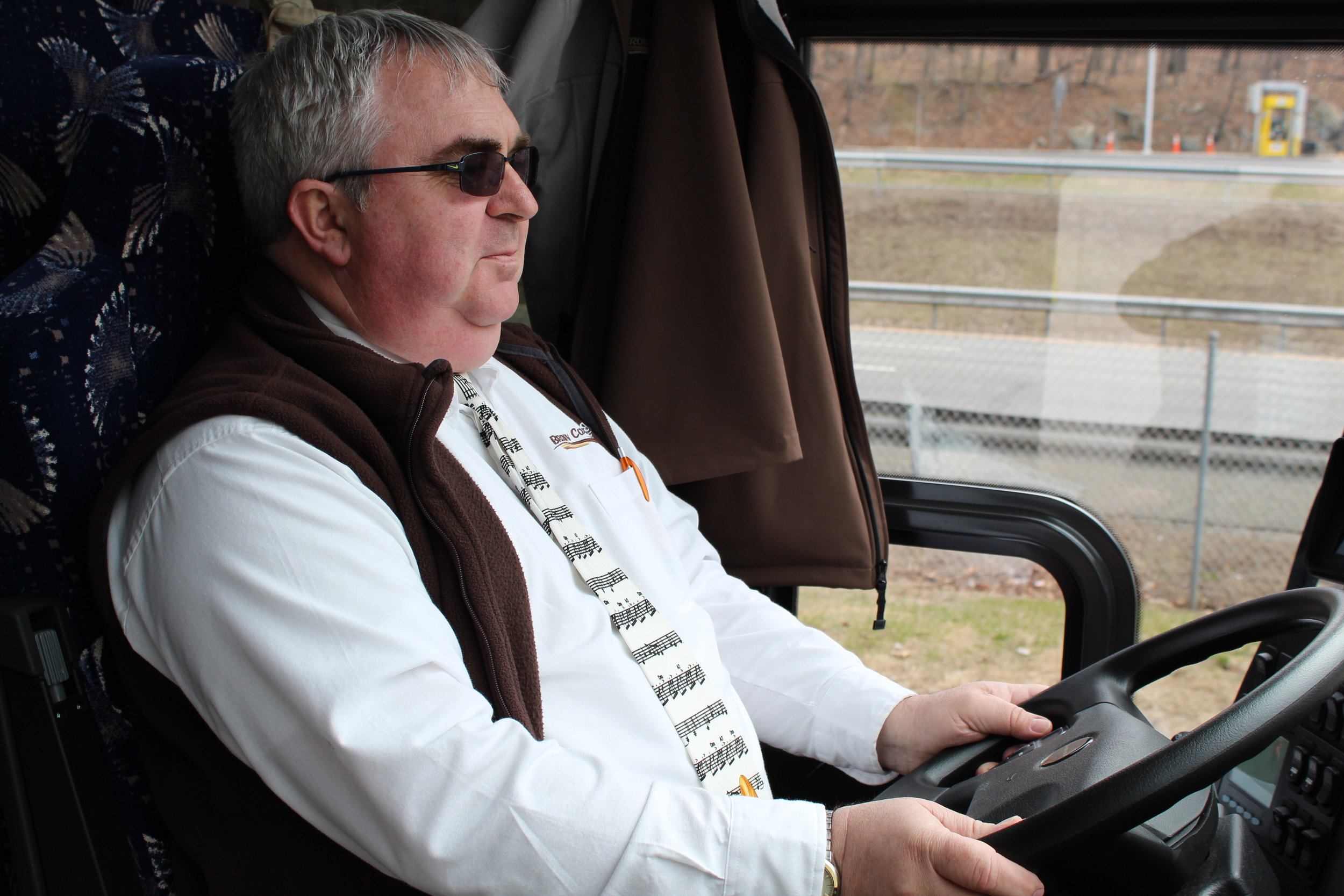 Meet Steve! Steve is the Operations Manager at Brown Transportation and one of our drivers. Did we mention that Steve and his wife Marilyn are Albany Symphony subscribers? We also really love his Tuba tie!