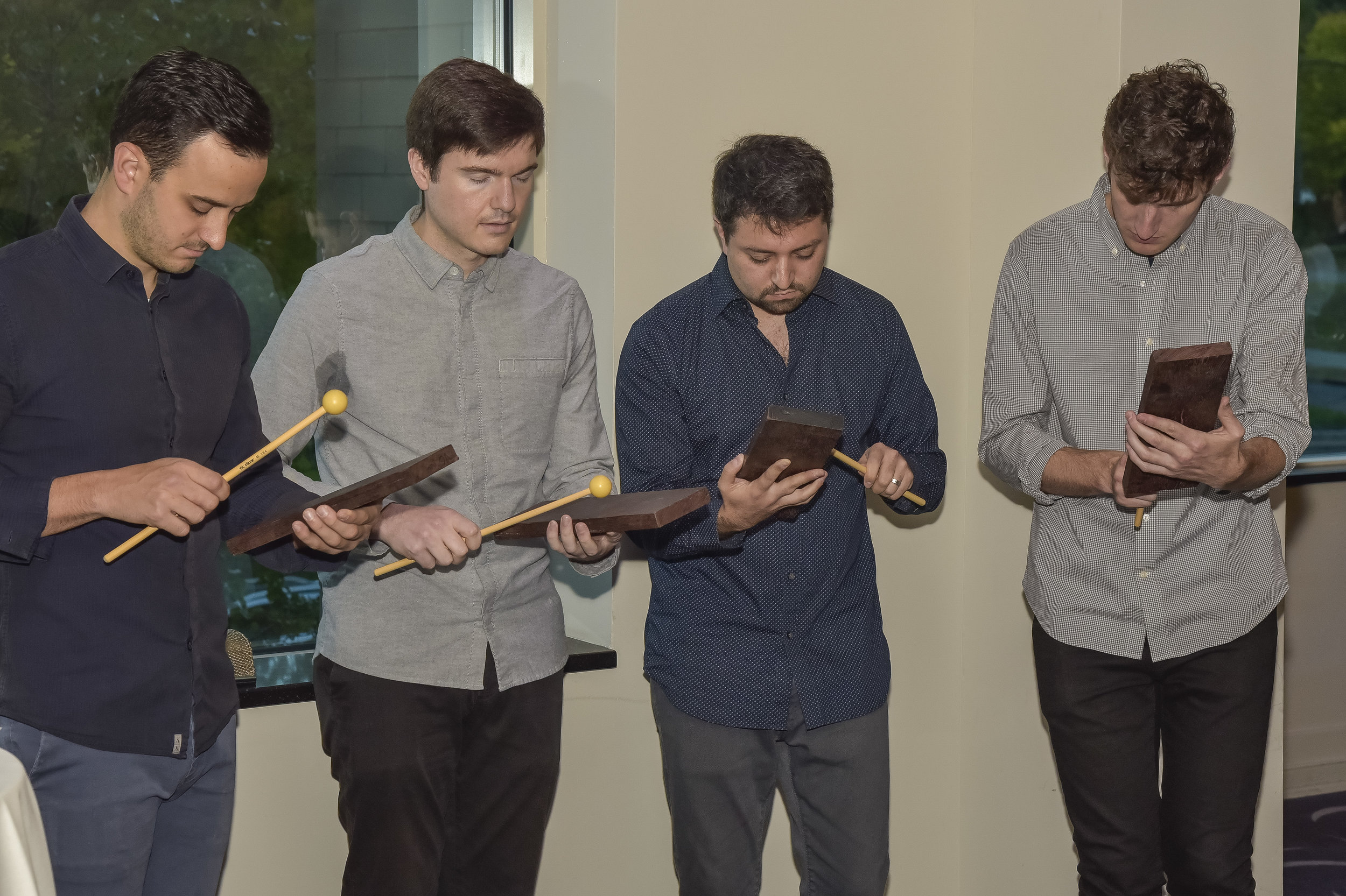 Sandbox Percussion performs at the pre-concert reception