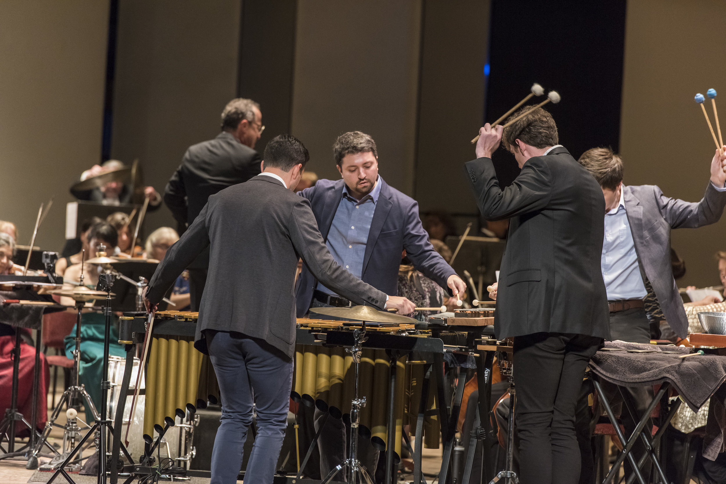 Sandbox Percussion performing the third movement of Viet Cuong's  Re(new)al