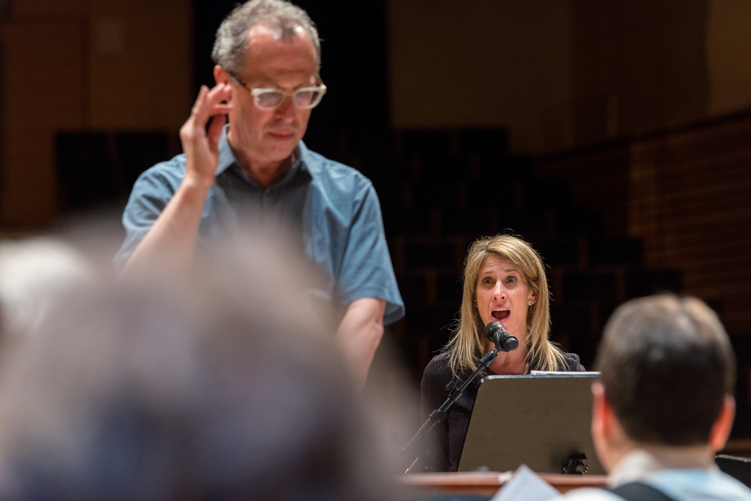 GRAMMY award-winning soprano Hila Plitmann returns to the EMPAC stage to perform and record David Del Tredici's first Alice work,  Pop-pourri . David Del Tredici sat in the orchestra and listened to the piece come together for the first time in over 30 years. What a treat!  Photo Credit Eric Berlin