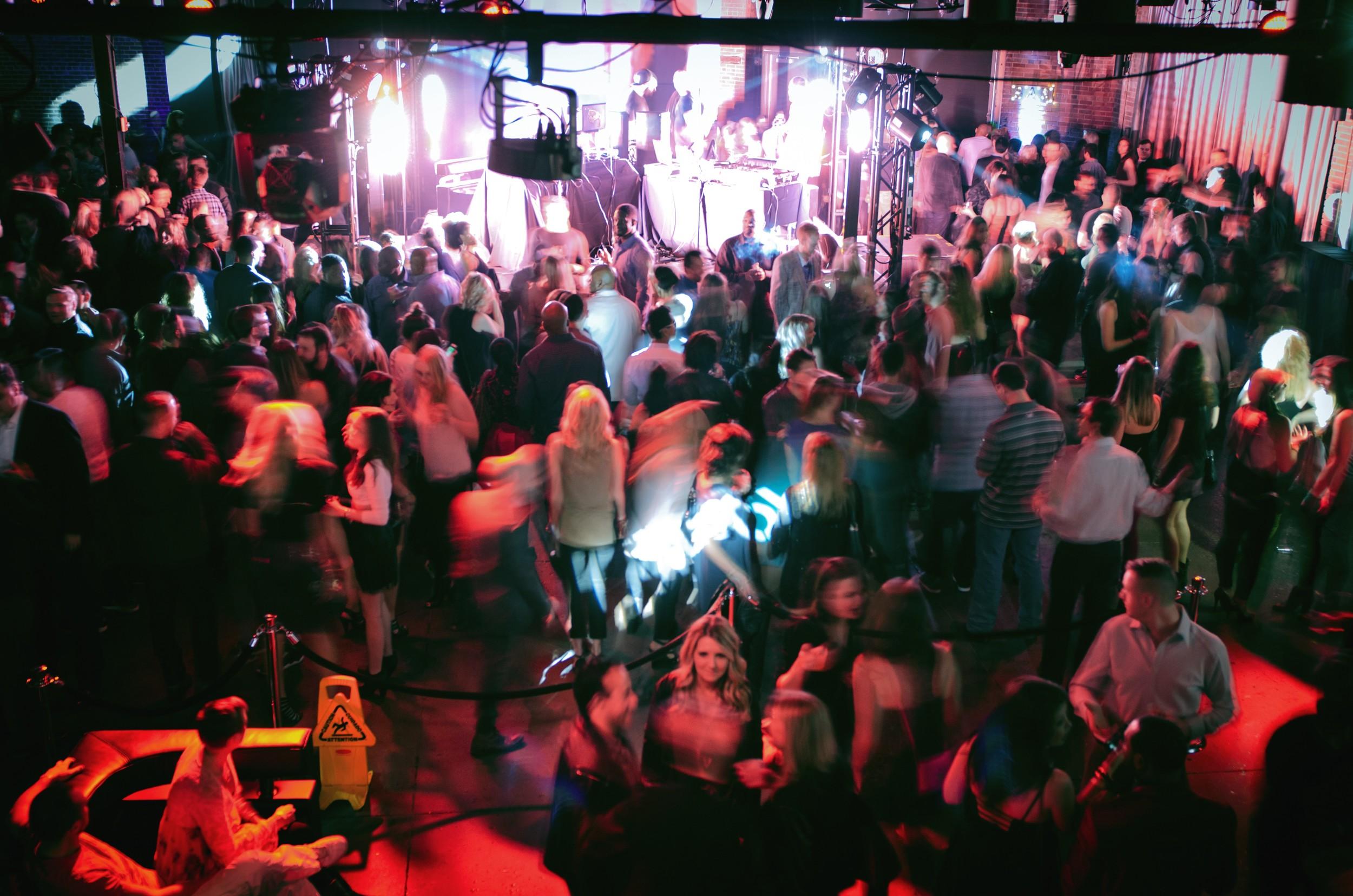 A bird's eye view of Saturday night's club scene