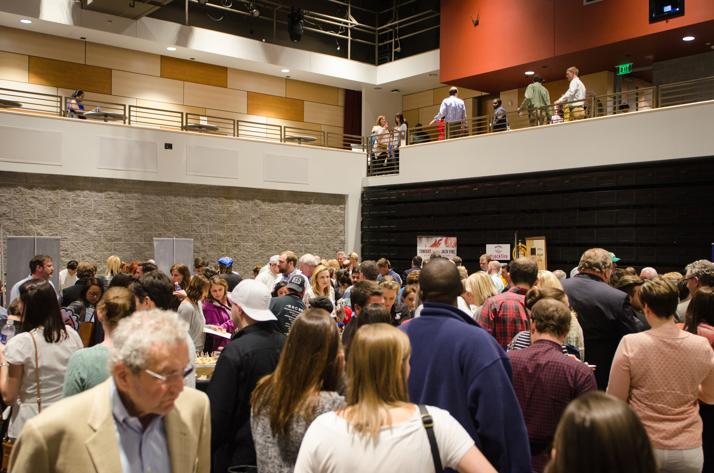 Hundreds of guests explored one of the rooms, trying not to miss any table at Tennessee Flavors