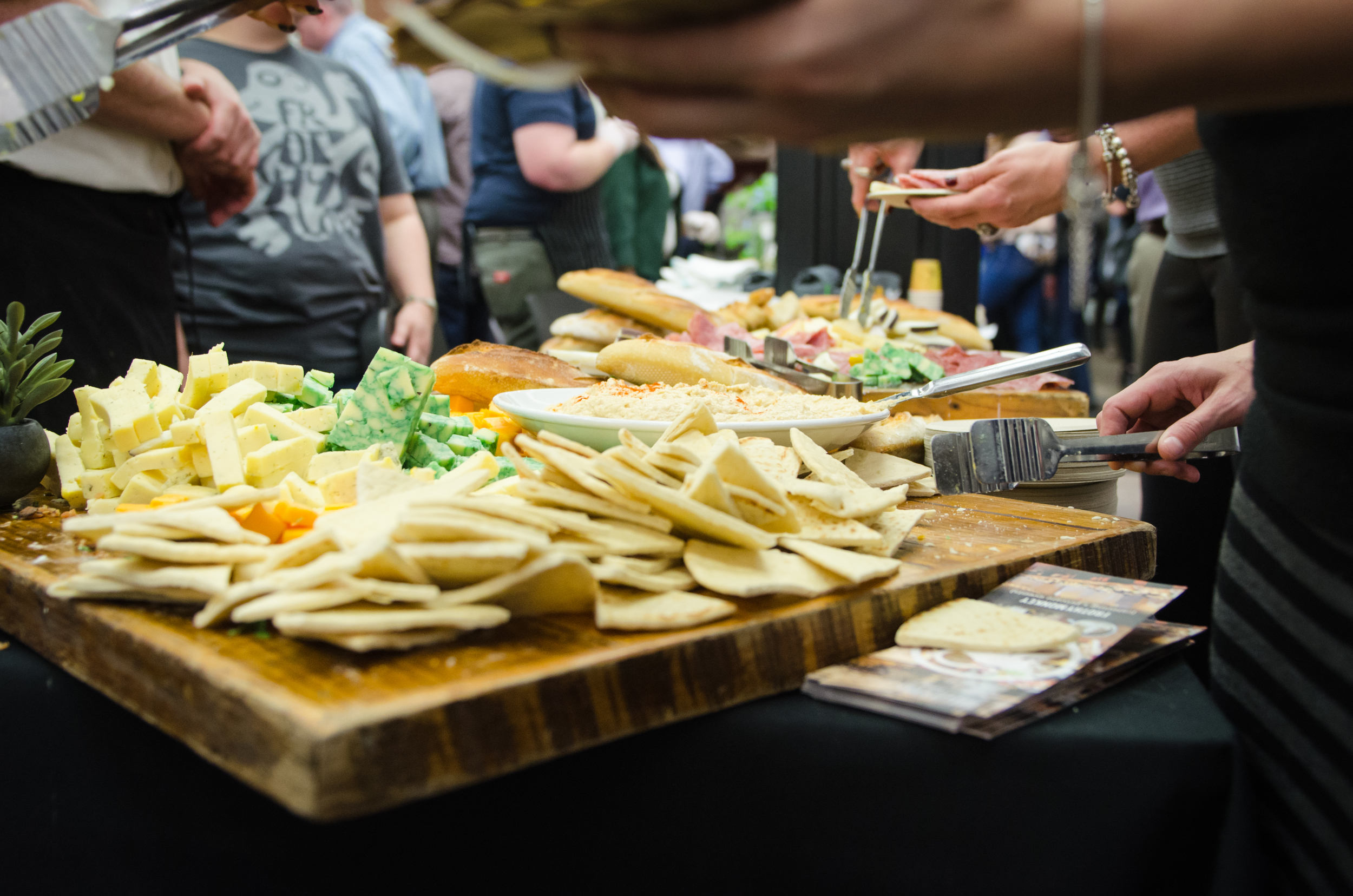 Frothy Monkey invites their visitors with a large cheese plate