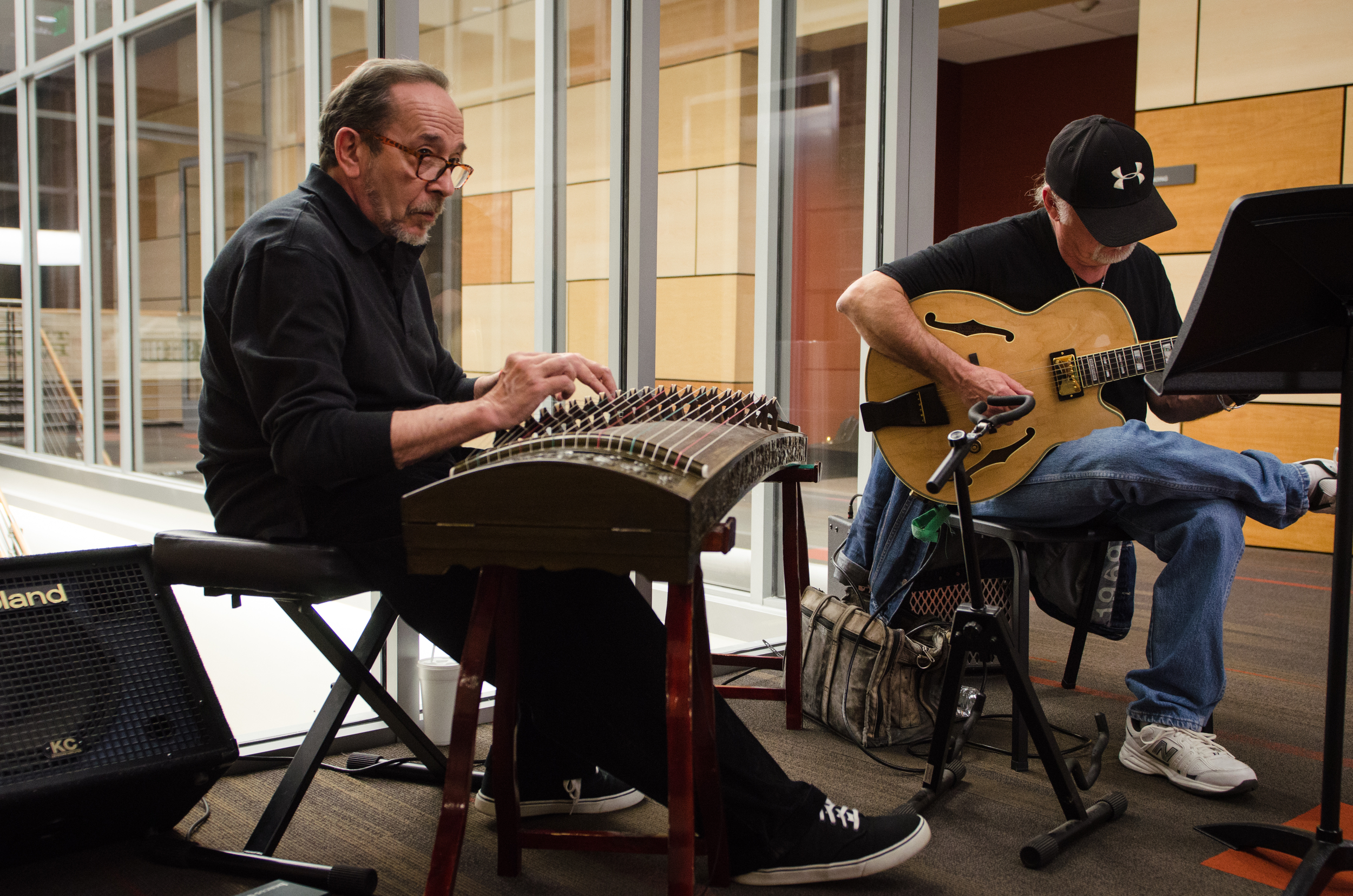 A Jazz duo set the mood in the  M Street  sponsored VIP room