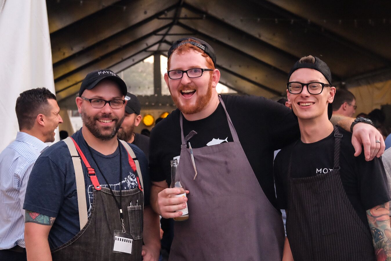 Director of Culinary Operations, Chef Bob (left), Executive Chef of Virago, Andrew (middle), and Chef Luke (right)