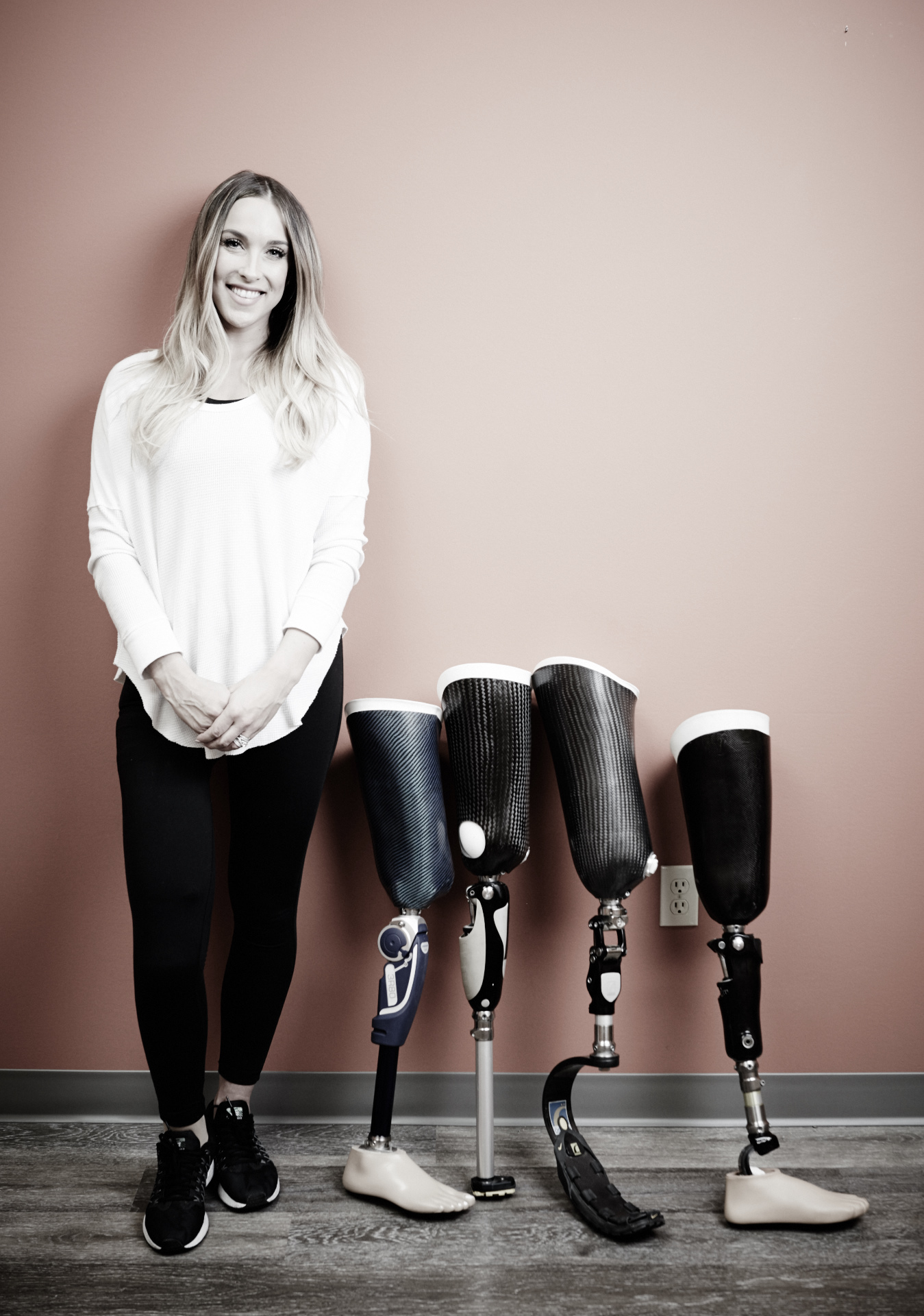 young woman with prosthesis collection