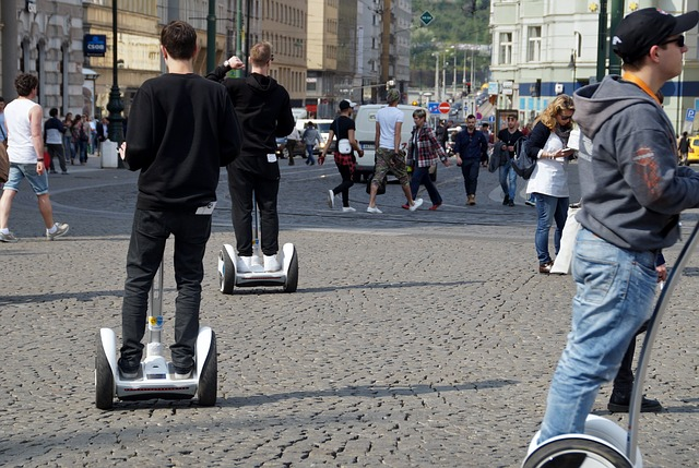 "No guys, it's called a ""segue,"" not a ""Segway."" You took the wrong kind of class didn't you?"